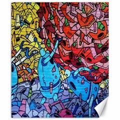 Colorful Graffiti Art Canvas 8  x 10