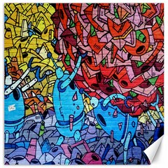 Colorful Graffiti Art Canvas 12  x 12