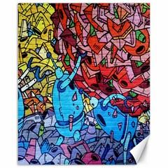 Colorful Graffiti Art Canvas 16  x 20
