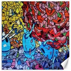 Colorful Graffiti Art Canvas 20  x 20