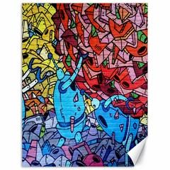 Colorful Graffiti Art Canvas 18  x 24