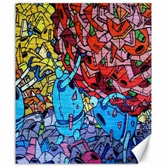 Colorful Graffiti Art Canvas 20  x 24