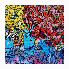 Colorful Graffiti Art Medium Glasses Cloth