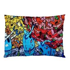 Colorful Graffiti Art Pillow Case