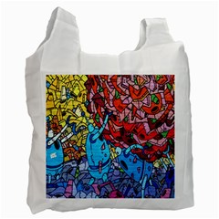 Colorful Graffiti Art Recycle Bag (One Side)