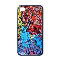 Colorful Graffiti Art Apple iPhone 4 Case (Black)