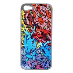 Colorful Graffiti Art Apple iPhone 5 Case (Silver)