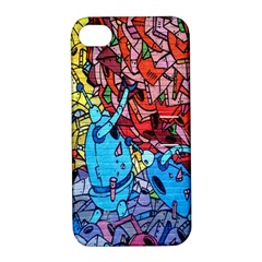 Colorful Graffiti Art Apple iPhone 4/4S Hardshell Case with Stand