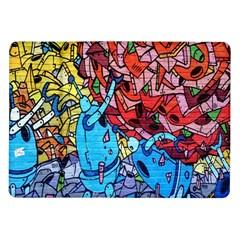 Colorful Graffiti Art Samsung Galaxy Tab 10.1  P7500 Flip Case