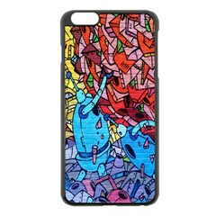 Colorful Graffiti Art Apple iPhone 6 Plus/6S Plus Black Enamel Case
