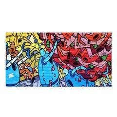 Colorful Graffiti Art Satin Shawl