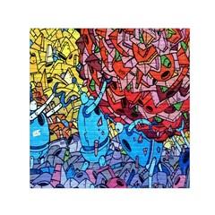 Colorful Graffiti Art Small Satin Scarf (square)
