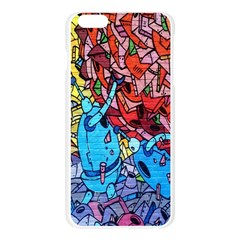 Colorful Graffiti Art Apple Seamless iPhone 6 Plus/6S Plus Case (Transparent)