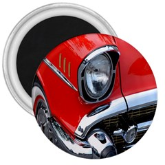 Classic Car Red Automobiles 3  Magnets