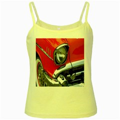 Classic Car Red Automobiles Yellow Spaghetti Tank