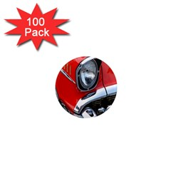 Classic Car Red Automobiles 1  Mini Magnets (100 pack)