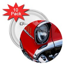 Classic Car Red Automobiles 2 25  Buttons (10 Pack)
