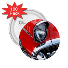 Classic Car Red Automobiles 2.25  Buttons (100 pack)