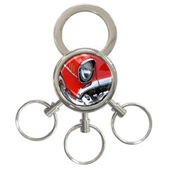 Classic Car Red Automobiles 3-Ring Key Chains