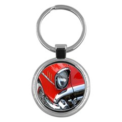 Classic Car Red Automobiles Key Chains (round)