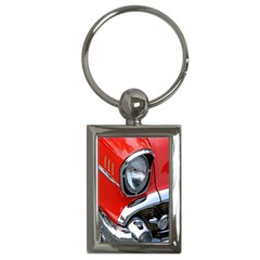 Classic Car Red Automobiles Key Chains (Rectangle)