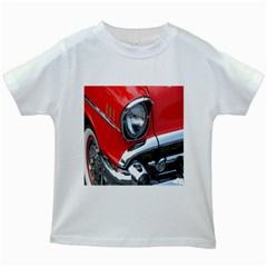 Classic Car Red Automobiles Kids White T Shirts