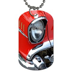 Classic Car Red Automobiles Dog Tag (One Side)