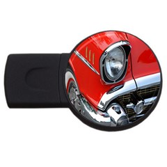 Classic Car Red Automobiles USB Flash Drive Round (2 GB)