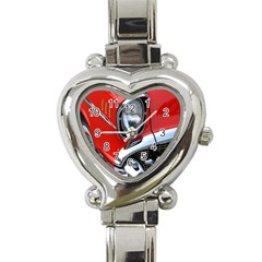 Classic Car Red Automobiles Heart Italian Charm Watch
