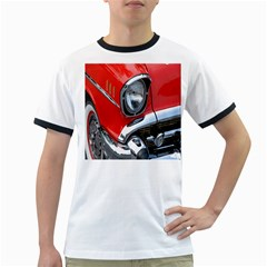 Classic Car Red Automobiles Ringer T-Shirts