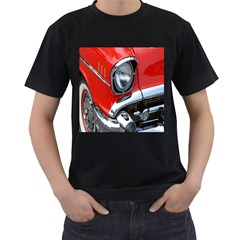 Classic Car Red Automobiles Men s T-Shirt (Black) (Two Sided)