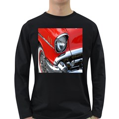 Classic Car Red Automobiles Long Sleeve Dark T-Shirts