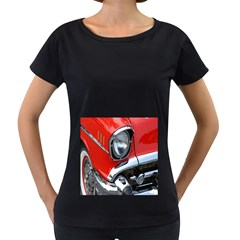 Classic Car Red Automobiles Women s Loose-Fit T-Shirt (Black)