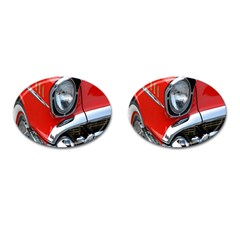 Classic Car Red Automobiles Cufflinks (Oval)