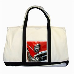 Classic Car Red Automobiles Two Tone Tote Bag