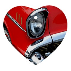 Classic Car Red Automobiles Heart Ornament (Two Sides)