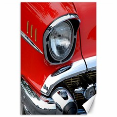 Classic Car Red Automobiles Canvas 24  X 36