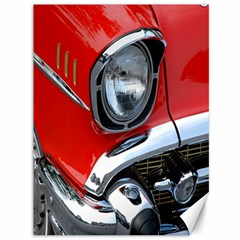 Classic Car Red Automobiles Canvas 36  x 48
