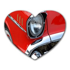 Classic Car Red Automobiles Heart Mousepads
