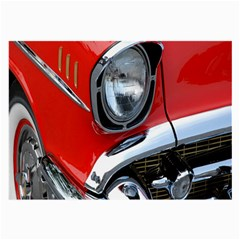 Classic Car Red Automobiles Large Glasses Cloth