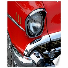 Classic Car Red Automobiles Canvas 11  x 14