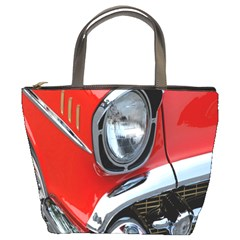 Classic Car Red Automobiles Bucket Bags