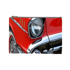 Classic Car Red Automobiles Cosmetic Bag (large)