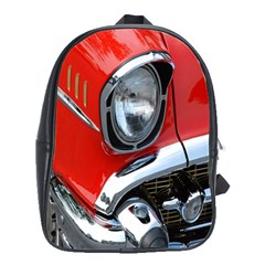 Classic Car Red Automobiles School Bags(Large)