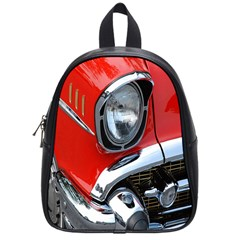 Classic Car Red Automobiles School Bags (Small)