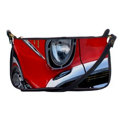 Classic Car Red Automobiles Shoulder Clutch Bags