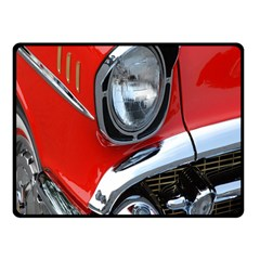 Classic Car Red Automobiles Fleece Blanket (small)