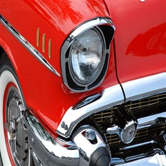 Classic Car Red Automobiles Magic Photo Cubes