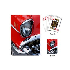 Classic Car Red Automobiles Playing Cards (Mini)