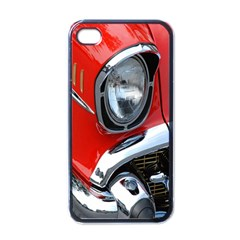 Classic Car Red Automobiles Apple iPhone 4 Case (Black)